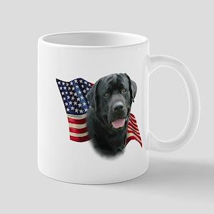 Black Lab Flag Mug