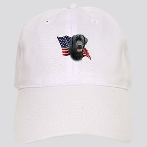 Black Lab Flag Cap