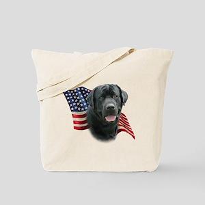 Black Lab Flag Tote Bag