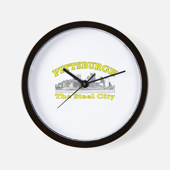 Pittsburgh . . . The Steel Ci Wall Clock