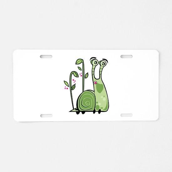 Funny Snail Aluminum License Plate