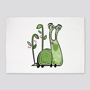 Funny Snail 5'x7'Area Rug