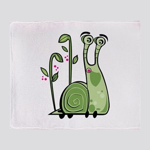 Funny Snail Throw Blanket