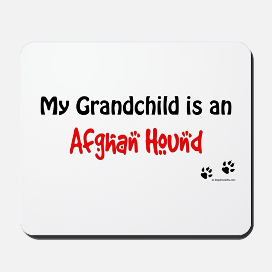 Afghan Hound Grandchild Mousepad
