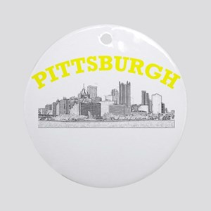 Pittsburgh Skyline Ornament (Round)