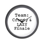 Team Crappy Lazy Finale Wall Clock