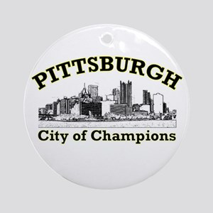 Pittsburgh . . . City of Cham Ornament (Round)