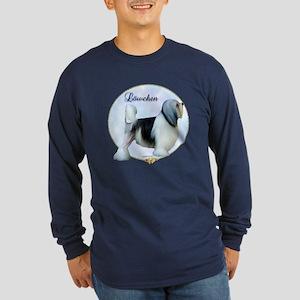 Lowchen Portrait Long Sleeve Dark T-Shirt