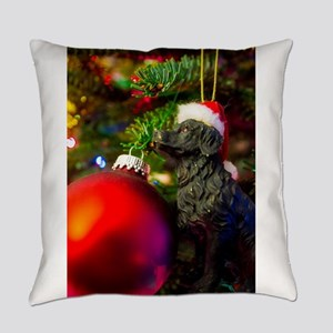 Puppys Christmas Everyday Pillow