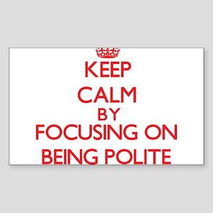 Being Polite Sticker