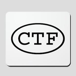 CTF Oval Mousepad