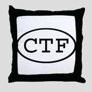 CTF Oval Throw Pillow