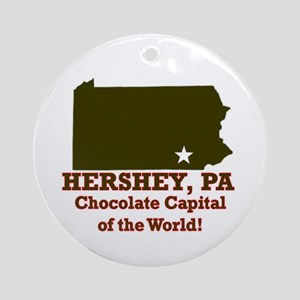 Hershey, Pennsylvania . . . C Ornament (Round)