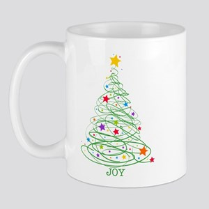 Swirly Christmas Tree Mug