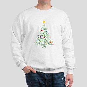 Swirly Christmas Tree Sweatshirt