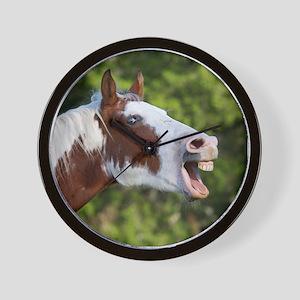 Funny Horse Face Wall Clock