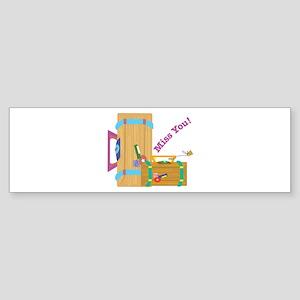 Miss You Bumper Sticker