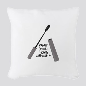 Never Leave Home Woven Throw Pillow