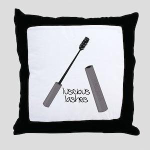 Luscious Lashes Throw Pillow