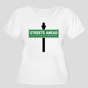 Streets Ahead Women's Plus Size Scoop Neck T-Shirt