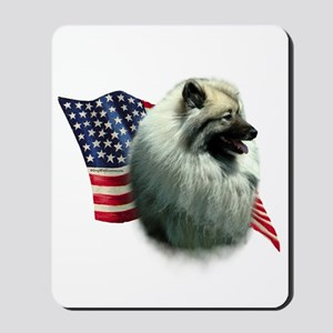 Keeshond Flag Mousepad
