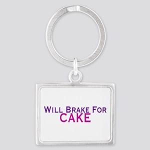 Will Brake For Cake Keychains