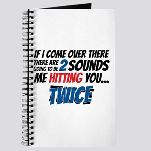 Me Hitting You Twice Journal