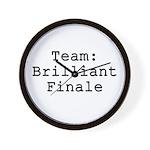 Team Brilliant Finale Wall Clock