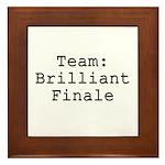 Team Brilliant Finale Framed Tile