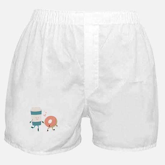 Coffe & Doughut Boxer Shorts
