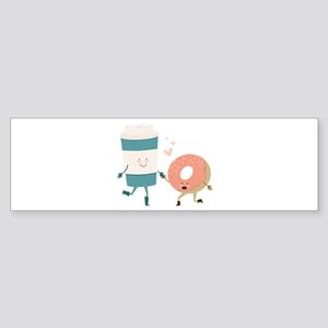 Coffe & Doughut Bumper Sticker
