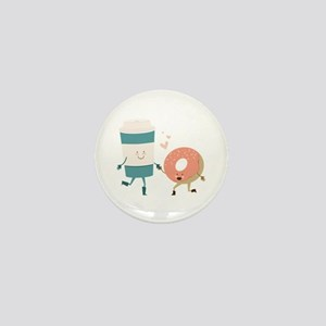 Coffe & Doughut Mini Button