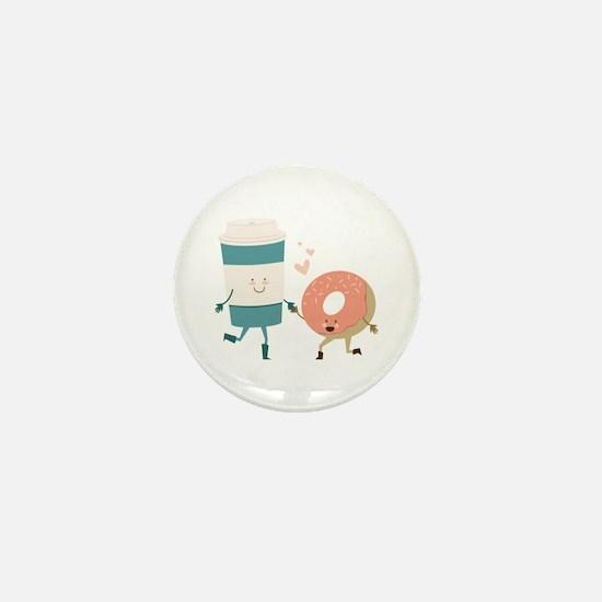 Coffe & Doughut Mini Button