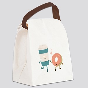 Coffe & Doughut Canvas Lunch Bag