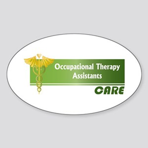 Occupational Therapy Assistants Care Sticker (Oval