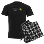 Christmas Veggies Men's Dark Pajamas