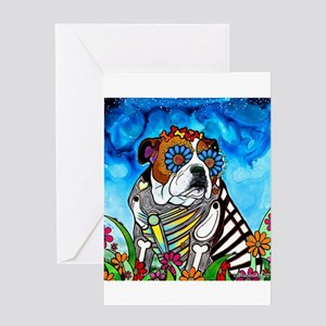 Lou the Bulldog Greeting Cards