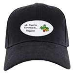 Christmas Veggies Black Cap