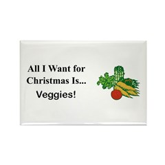 Christmas Veggies Rectangle Magnet