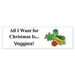Christmas Veggies Sticker (Bumper 50 pk)