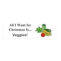 Christmas Veggies Wall Decal