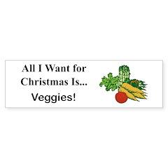 Christmas Veggies Sticker (Bumper)