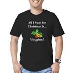 Christmas Veggies Men's Fitted T-Shirt (dark)