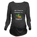 Christmas Veggies Long Sleeve Maternity T-Shirt