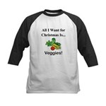 Christmas Veggies Kids Baseball Jersey