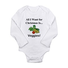 Christmas Veggies Long Sleeve Infant Bodysuit