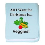 Christmas Veggies baby blanket