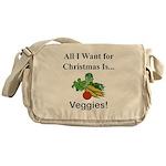 Christmas Veggies Messenger Bag