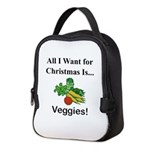 Christmas Veggies Neoprene Lunch Bag
