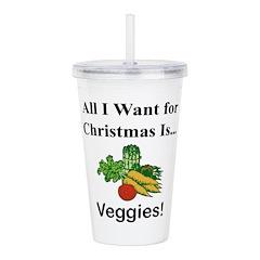 Christmas Veggies Acrylic Double-wall Tumbler